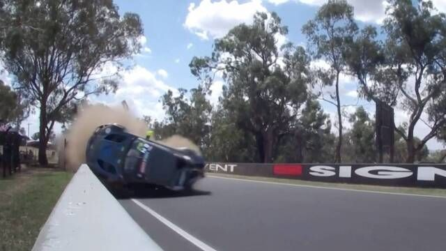 Bathurst 12 Hour: Massive crash for Marvin Kirchhoefer