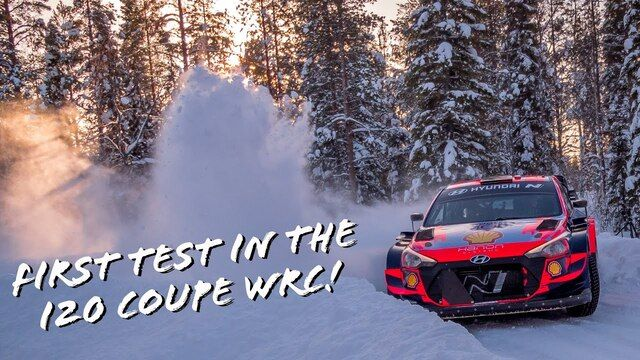 Oliver Solberg i Aaron Johnston - Testy przed Arctic Rally Finland