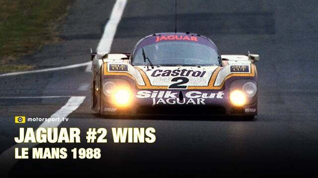 1988: The number 2 Jaguar wins Le Mans