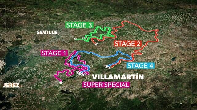 2021 Andalucia Rally Route