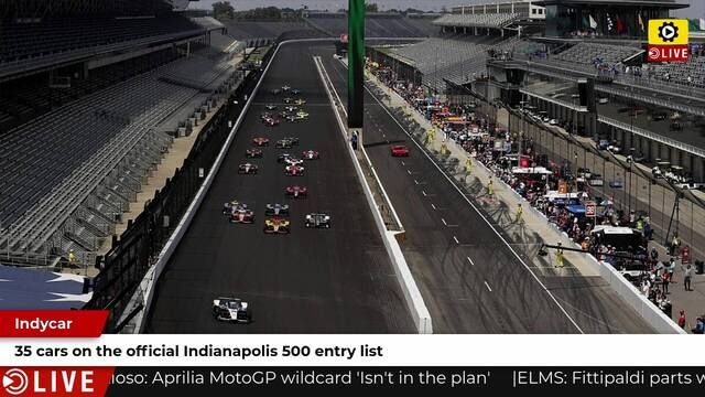 35 car grid on the official Indianapolis 500 entry list