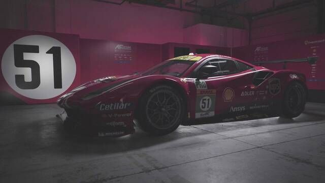AF Corse 488 GTE Livery