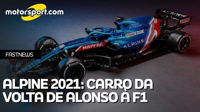 Alpine 2021: O carro da volta de Alonso