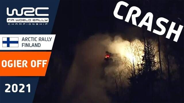 Arctic Rally Finland: Sebastien Ogier crashes during SS8