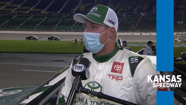 Austin Hill finishes third at Kansas after double NASCAR Overtime
