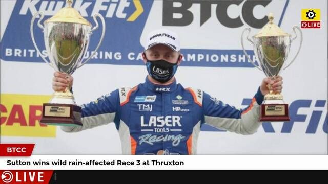 BTCC: Champion Sutton wins final Thruxton race