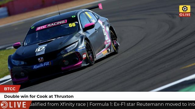 BTCC: Cook wins both races at Thruxton
