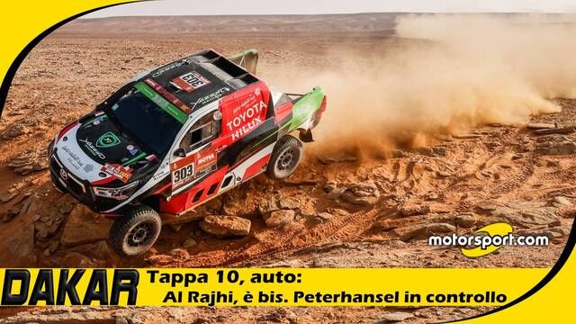 Dakar 2021, day 10 auto: al Rajhi, è bis. Peterhansel in controllo