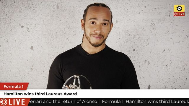 F1: Hamilton wins third Laureus Award