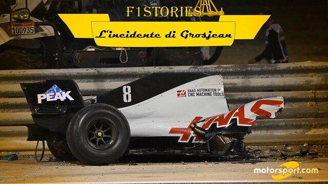 F1, incidente di Grosjean: il fotoracconto