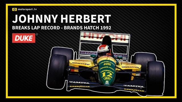 F1: Johnny Herbert Breaks lap record at Brands Hatch