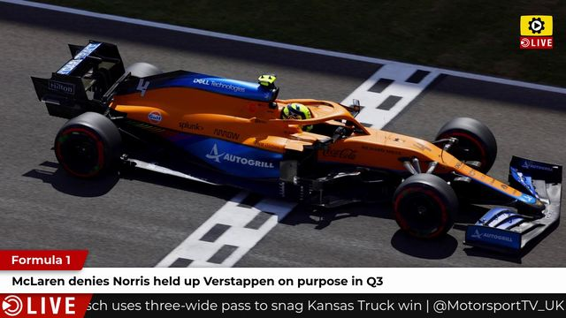 F1: McLaren denies Norris help up Verstappen on purpose in Q3