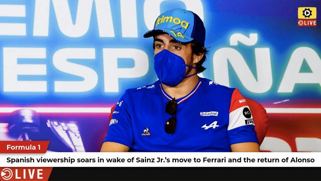 F1: Sainz and Alonso escalate Spanish viewership growth