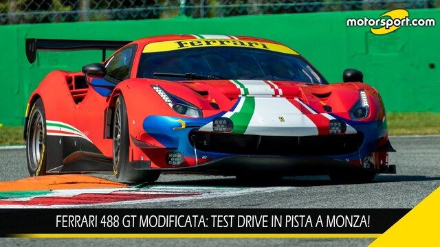 Ferrari 488 GT Modificata: test drive in pista a Monza!