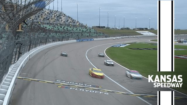 Final Laps: Logano holds off Harvick to win and advance at Kansas
