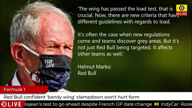 Formula 1: Red Bull confident 'bendy wing' clampdown won't hurt form