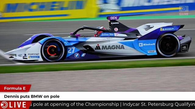 Formula E: Dennis on pole at Valencia for race 2