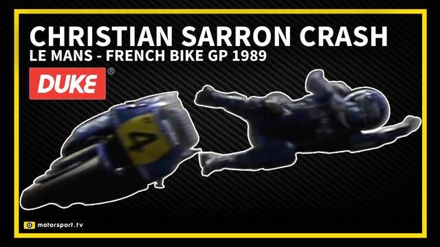 French Bike GP 1989: Christian Sarron crash