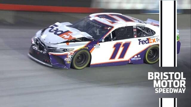 Hamlin rear-ends Truex at Bristol
