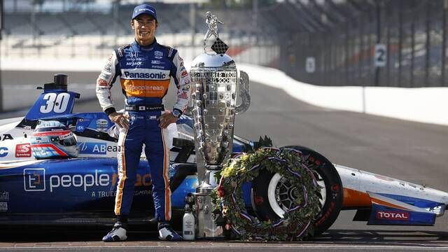 Indy500: Takuma Sato celebrations