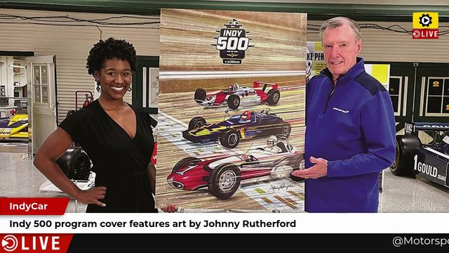 IndyCar: Indy 500 program cover features art by Johnny Rutherford