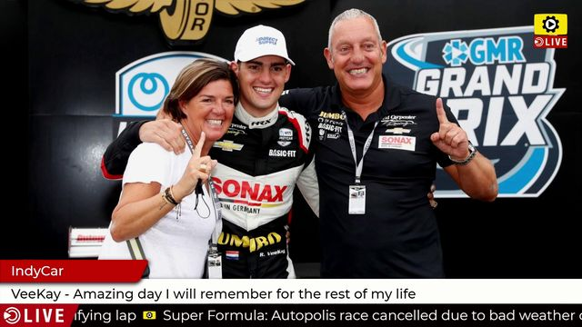 IndyCar: VeeKay - Amazing day I will remember for the rest of my life