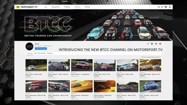 Introducing the new BTCC channel on Motorsport.tv!