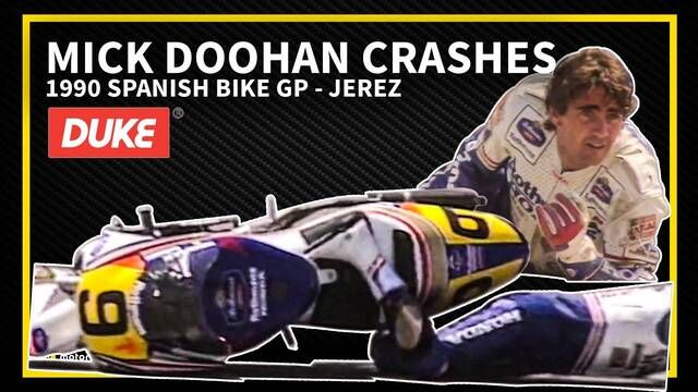 Jerez 1990: Crash van Mick Doohan