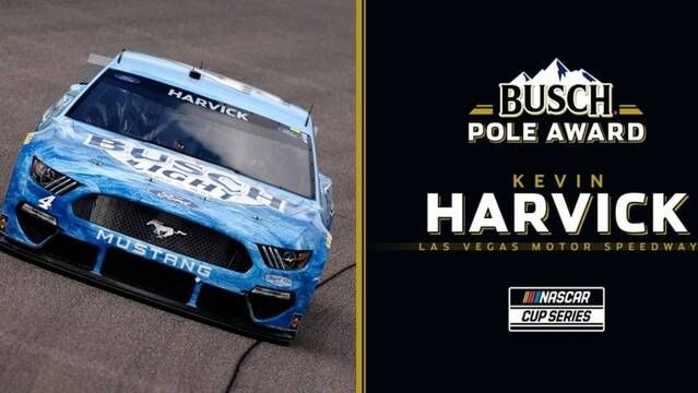 Kevin Harvick wins Busch Pole at Las Vegas Motor Speedway