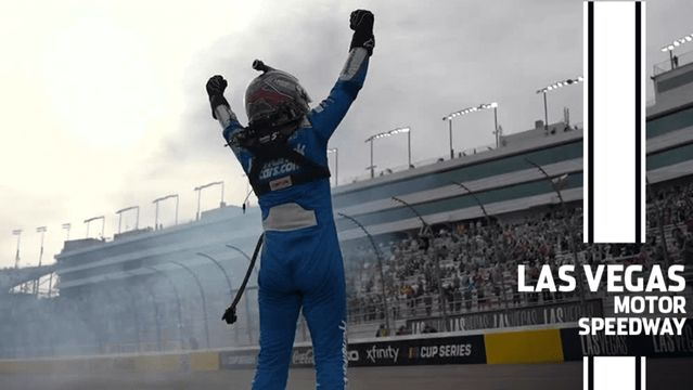 Larson after winning at Vegas: 'That was some fun racing'