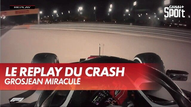 Le replay du crash de Romain Grosjean