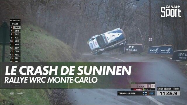 L'incroyable crash de Teemu Suninen à Monte-Carlo