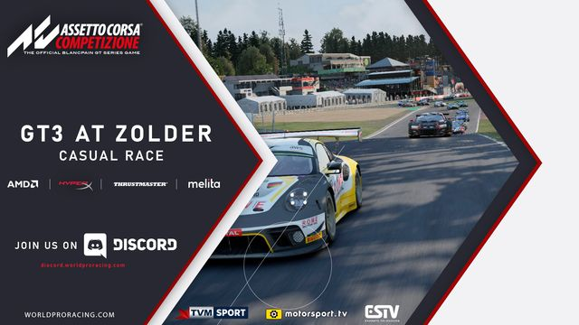Live: GT3 at Zolder Casual Race - WRP