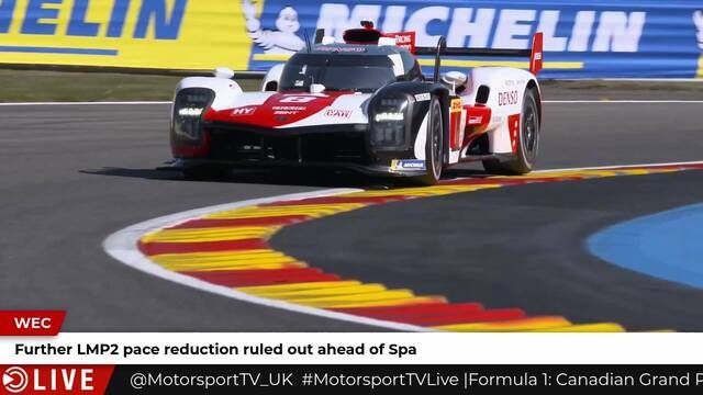 LMP2 Spa slowdown rejected
