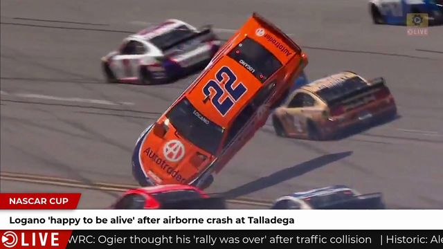 Logano 'happy to be alive' after airborne crash