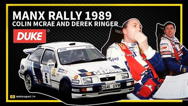Manx-Rallye 1989: Colin McRae in Action