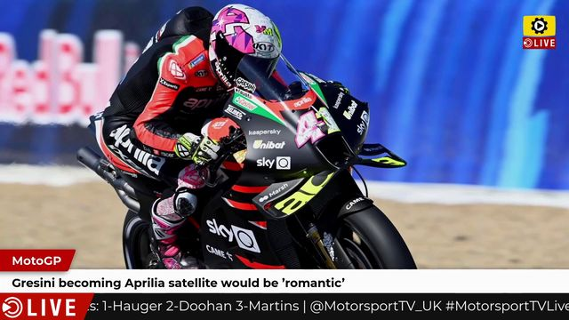 MotoGP: Gresini becoming Aprilia satellite would be 'romantic'