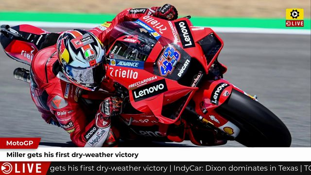 MotoGP: Miller gets his first dry-weather victory