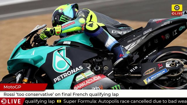 MotoGP: Rossi 'too conservative' on final French qualifying lap