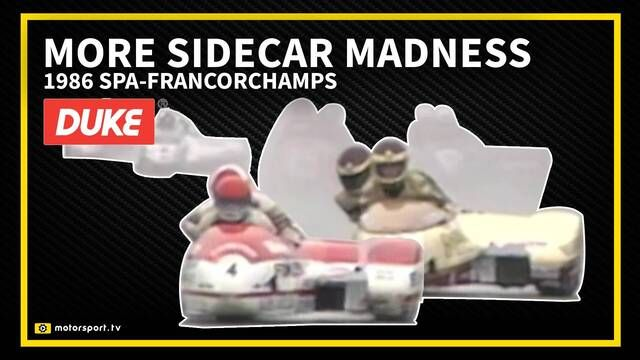 Retro: Met de sidecar door Eau Rouge in 1986