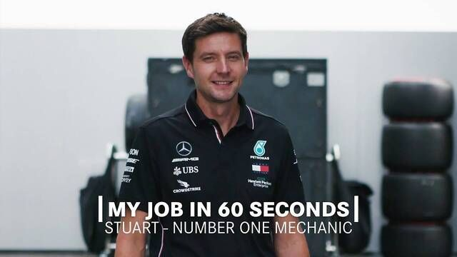 My Job in 60 Seconds | F1 Number One Mechanic of Mercedes-AMG F1 Team