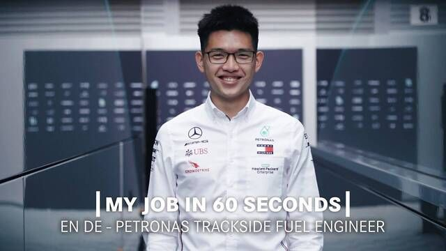 My Job in 60 Seconds | PETRONAS Trackside Fluid Engineer