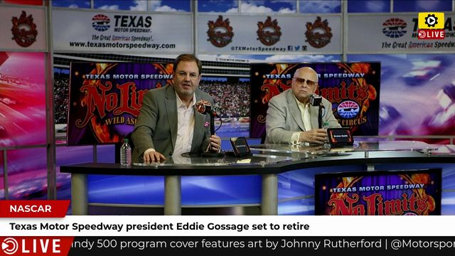 NASCAR: Texas Motor Speedway president Eddie Gossage set to retire