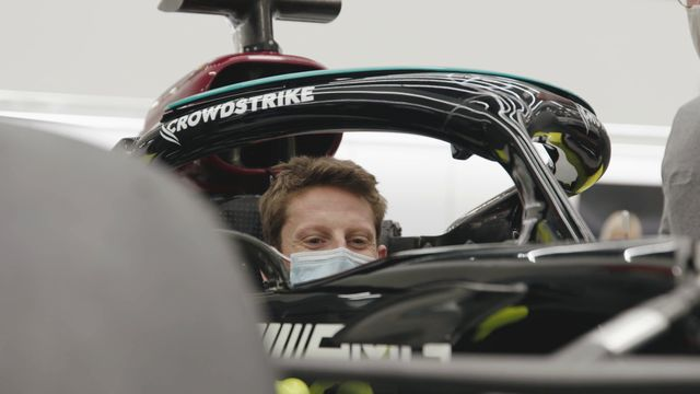 Romain Grosjean's Special Mercedes Test