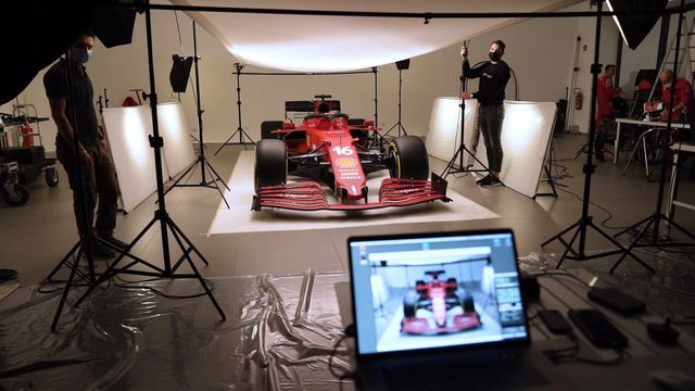 Scuderia Ferrari SF21 Photoshoot BTS