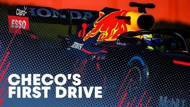 Sergio Perez's First Drive With Red Bull Racing