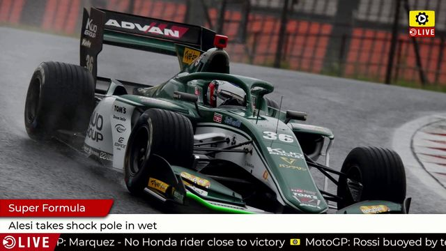 Super Formula: Alesi takes shock pole in wet