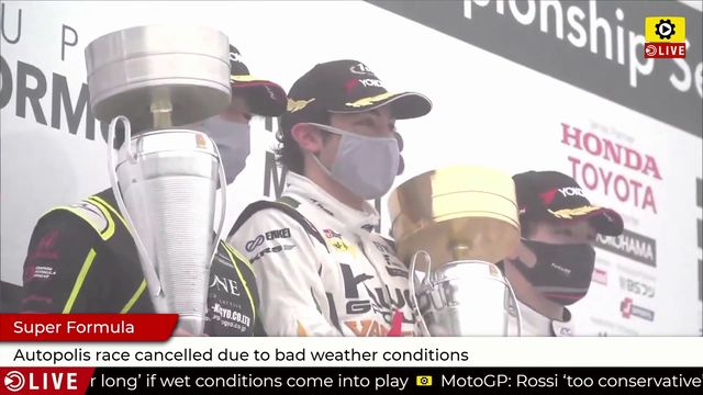 Super Formula: Autopolis race ended early due to bad weather conditions