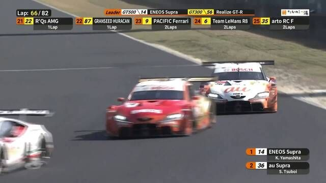 SUPER GT: Okayama - GT500 Tsuboi attacks for the lead