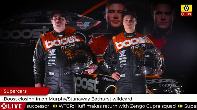 Supercars: Boost closing in on Murphy/Stanaway Bathurst wildcard
